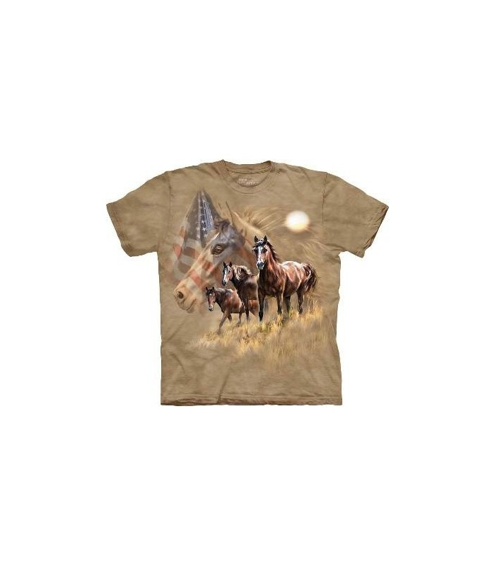 Chevaux Patriotiques - T-shirt Cheval The Mountain