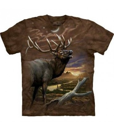 Elk at Dusk - Animals T Shirt by the Mountain
