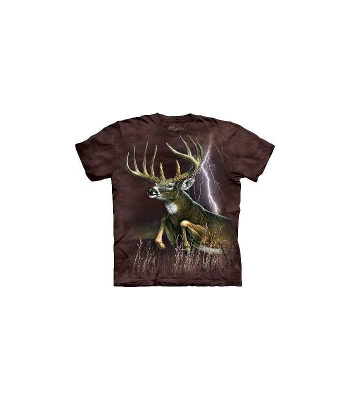 Deer Lightening - Deer T Shirt by the Mountain