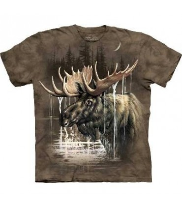 Moose Forest - Moose T Shirt by the Mountain
