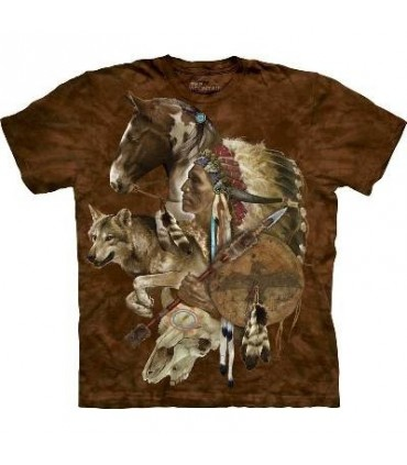 Esprit du Loup guerrier - T-shirt amérindien The Mountain