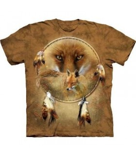 Dreamcatcher Fox - Native America T Shirt by the Mountain