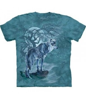 Wolf Tree Silhouette - Animals T Shirt by the Mountain