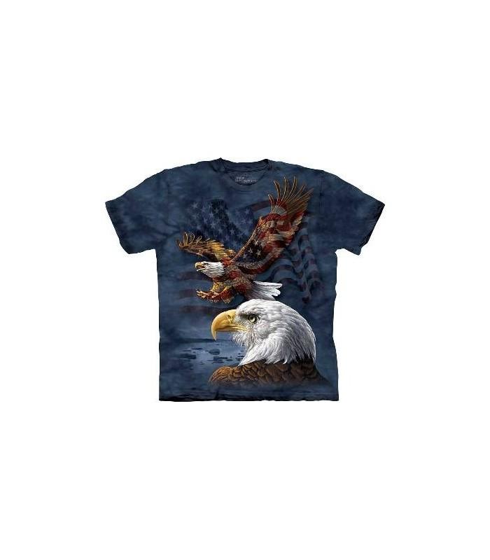 Aigle et Drapeau - T-shirt patriotique The Mountain