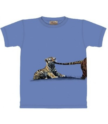 Tiger Pull - Zoo Animals T Shirt by the Mountain