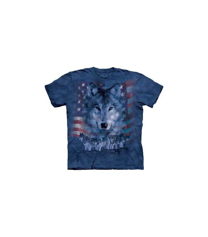 riotic Wolfpack - Patriotic USA T Shirt by the Mountain