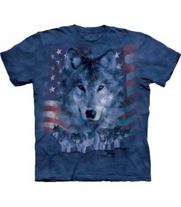 T-shirt Meute de Loups Patritotique The Mountain