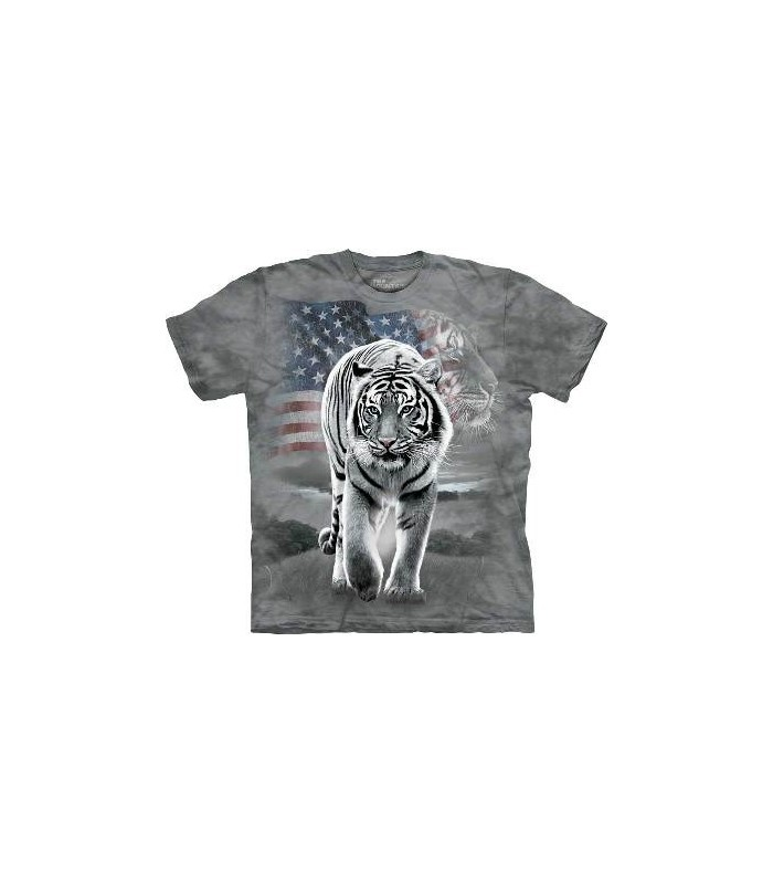 Patriotic Tiger - Patriotic USA T Shirt by the Mountain