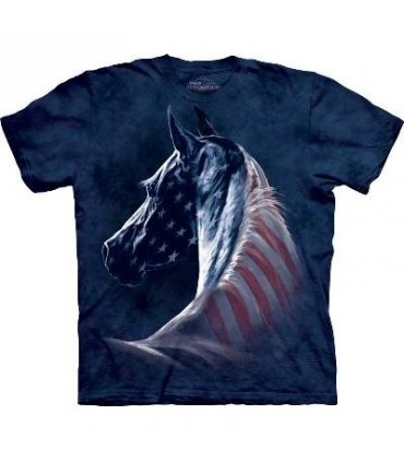 Patriotic Horse Head - Patriotic T Shirt by the Mountain