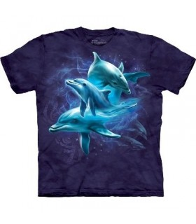 T-Shirt Groupe de Dauphins par The Mountain