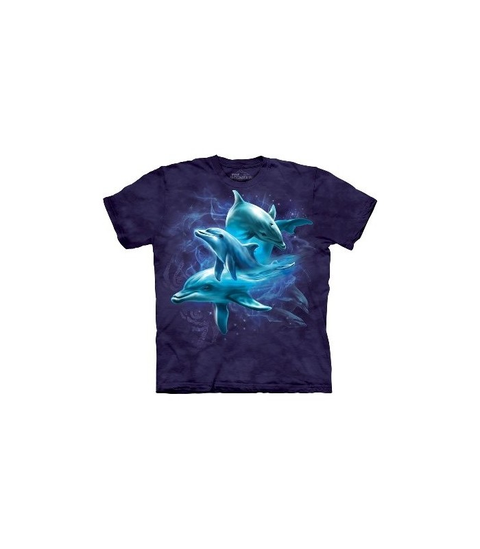 Dolphin Collage - Sealife T Shirt by the Mountain