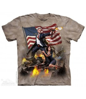 Clinton - USA Patriotic T Shirt The Mountain