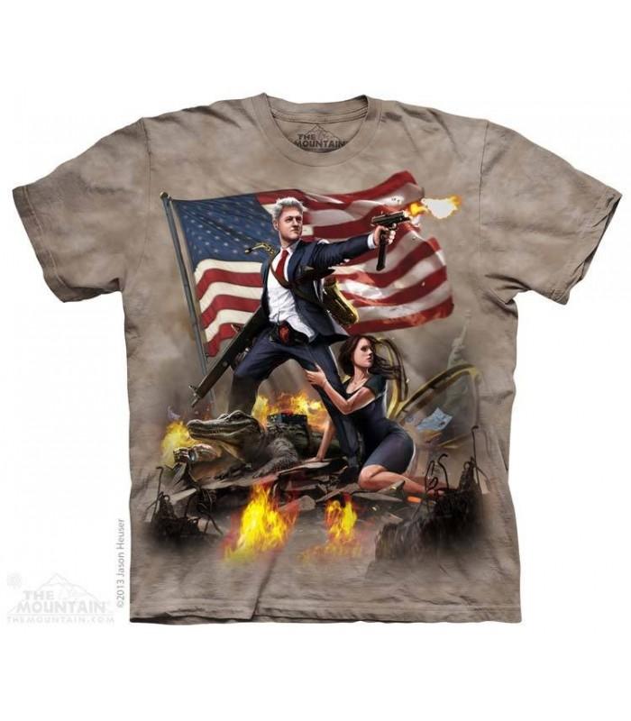 Clinton - USA Patriotic T Shirt The Mountain