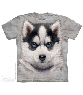 T-Shirt tête de Chiot Husky Sibérien The Mountain