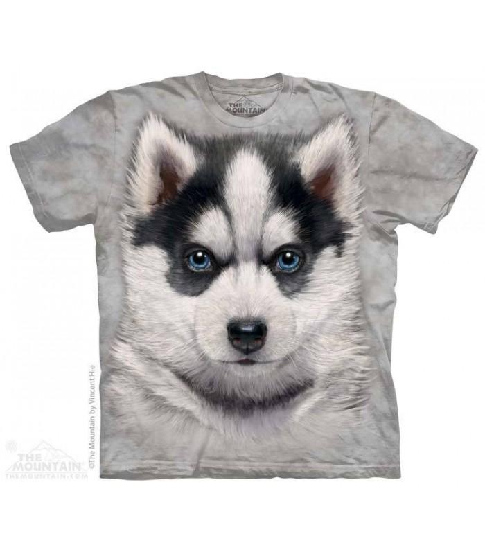 T-Shirt tête de Chiot Husky Sibérien The Mountain