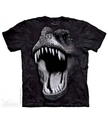 Big Face Glow Rex - Dinosaur T Shirt The Mountain