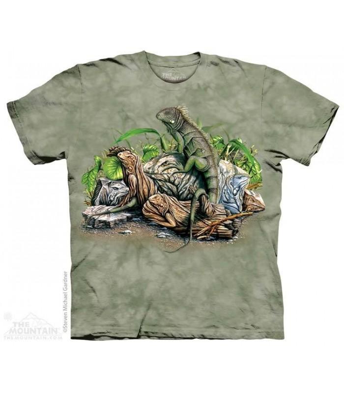 Find 10 Iguanas - Hidden Images T Shirt The Mountain