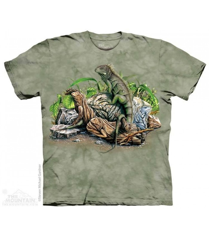 Trouver 10 Iguanes - T-shirt Reptile The Mountain