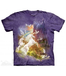 Licornes au coucher du soleil - T-shirt Fantasy The Mountain