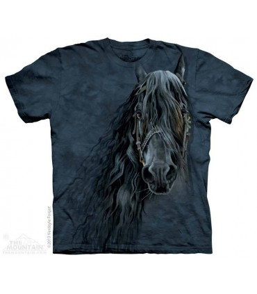 Forever Friesian - Horse T Shirt The Mountain