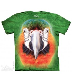 Big Face Parrot - Bird T Shirt The Mountain