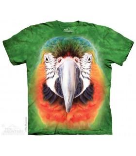 Big Face Parrot - Bird T Shirt The Mountain